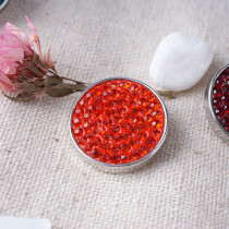 20mm snaps orange Rhinestones Chunks Poppers With High Quality Bottom