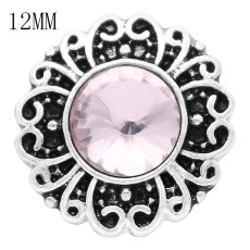 12MM snap Oct. birthstone pink KS6385-S broches intercambiables joyería