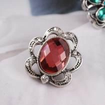 Защелки 20MM Античное серебро, покрытое красным стразами KC6234 защелкиваются ювелирные изделия
