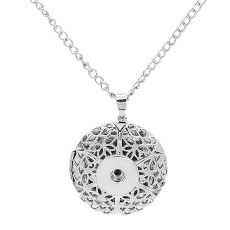 Photographic Pendant Necklace with 60CM chain KC1081 fit 20MM chunks snaps jewelry