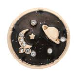 20 milímetros de estrellas, luna y planeta chapado en oro cinta de esmalte rhinestone KC9911 hebilla joyería