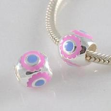 partner sterling silver beads with Enamel