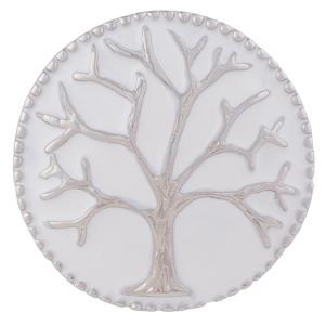 20MM Life of tree snap Plateado con esmalte KB7971 broches de joyería