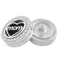 22mm white alloy mom Aromatherapy/Essential Oil Diffuser Perfume Locket snap with 1pc 15mm discs as gift