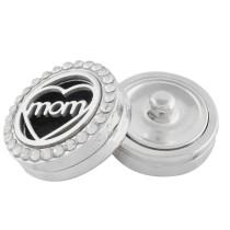 22mm blanc en alliage mère Aromatherapy / Essential Oil Diffuser Parfum Médaillon à pression avec disques 1pc 15mm comme cadeau