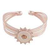 Металлический браслет из розового золота с пуговицами 1 застегивает браслеты со стразами с защелками