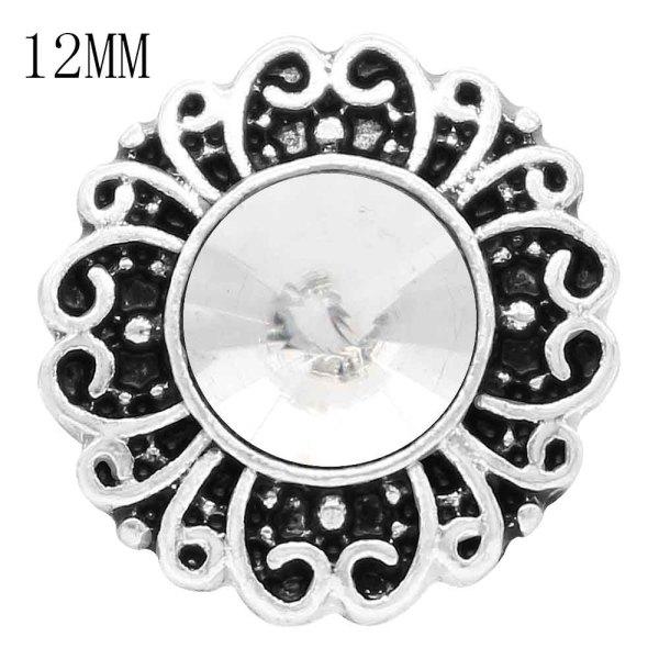 12MM snap avril naissance pierre blanche KS6379-S interchangeables s'enclenche bijoux