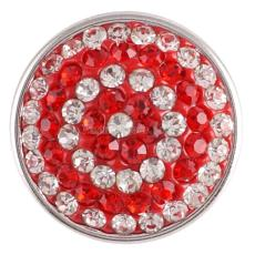 snaps button with red  rhinestone KC2737 snaps jewelry