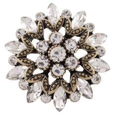 20MM design snap gold Plated with white Rhinestones KC8947 snaps jewelry