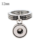 12MM snaps adjustable antique silver plated Ring KS1231-S snaps jewelry