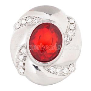 20MM snap Jul. Birthstone red KC5077 broches intercambiables joyería