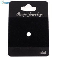10pcs/set  snap buttons PVC suede Cards Fit 1pcs 12mm snaps 4*5CM