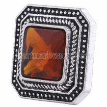 20MM Квадратная оснастка Серебро с покрытием из коричневого горного хрусталя KC6121 оснастка ювелирные изделия