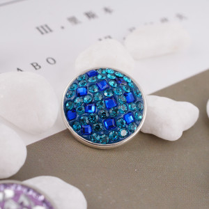 snaps button with cyan rhinestone and resinestone KC2772 snaps jewelry
