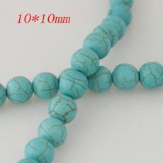 10mm türkisfarbene Perlen
