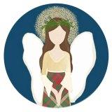 20MM angel C5904 ange en métal peint émail peint