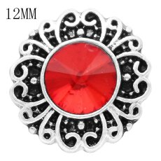 12MM snap Jul. Birthstone red KS6382-S broches intercambiables joyería
