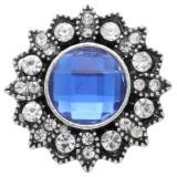 Diseño 20MM de plata chapada con diamantes de imitación azules KC6922 broches de joyería