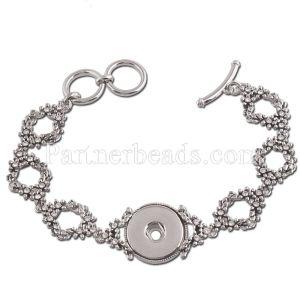 Pulsera de metal de alta calidad 22CM encajes de broches trozos 1 botones de broches