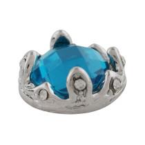 12MM Astilla de corona chapada con diamantes de imitación azules KS9704-S broches de joyería