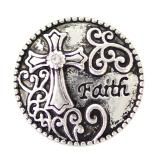 20MM faith snaps Antique Silver Plated KB6919 snaps jewelry