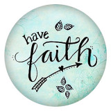 20MM faith Painted enamel metal C5249 print snaps jewelry