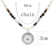 Pendant Necklace with 46CM chain KC1092 20MM chunks snaps jewelry