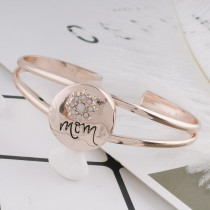 20MM mother Rose Gold Plated with white rhinestone KC7538 snaps jewelry