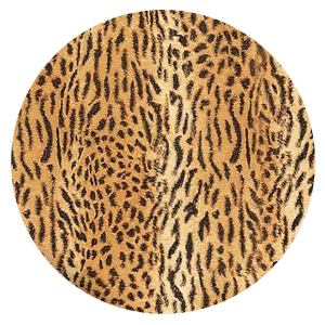 20MM Leopard Print Painted enamel metal C5881 print brown