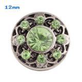 Broches verdes 12mm de tamaño pequeño para joyas en trozos
