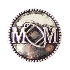 20MM Мама футбольная Античная оснастка Посеребренная KB6925 оснастка ювелирные изделия