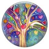 20MM árbol Esmalte pintado metal C5866 estampado broches joyería