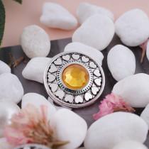 20MM snap Nov. birthstone yellow KC5043 interchangable snaps jewelry