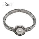 Pulsera de astilla a presión con botones 1 con ajuste de diamantes de imitación 12MM broches de joyería KS1209-S