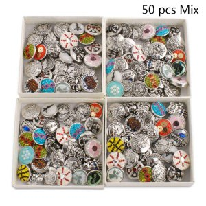 50pcs / lot Druckknöpfe 20mm Preiswerte Arten Niveau-Mischungsarten MixMix Farben