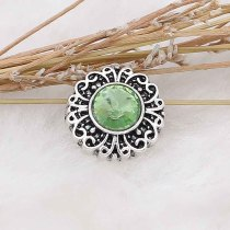 12MM snap Aug. birthstone green KS6383-S broches intercambiables joyería