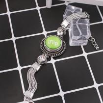 20MM snap glass Gymnastique C0941 interchangeable vert