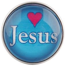 20MM prend un verre de Jesus love me C0554 cyan