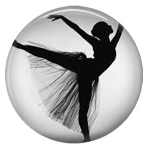 Танцовщица 20MM Окрашенная эмаль из металла C5365 с принтом ювелирных украшений