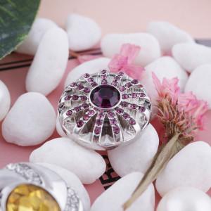 20MM оснастка февраль родинка камень фиолетовый KC5060 сменные защелки ювелирные изделия