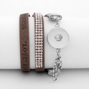 Las pulseras de PU se ajustan a trozos de broches 18 / 20MM