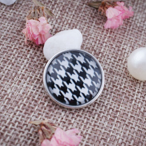 20MM snap glass houndstooth pattern KC2157 interchangeable snaps jewelry
