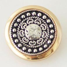 20MM Round snap Antique Gold Plated KB6280 schnappt Schmuck