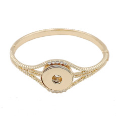 Snap bracelet en or ajustement strass 20MM s'enclenche bijoux K02882