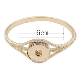 Snap gold bracelet  rhinestone fit 20MM snaps jewelry K02882