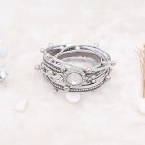 20MM design snap silver Plated with White rhinestone KC6978 snaps jewelry