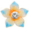 20MM Flowers snap gold Plated with rhinestone blue enamel KC6974 snaps jewelry