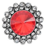 20MM design snap silver Plated with Red rhinestone KC6982 snaps jewelry