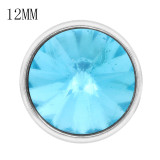 12MM snap Mar. birthstone bleu clair KS7033-S bijoux interchangeables