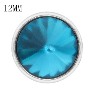 12MM complemento Dec.birthstone cyan KS7042-S broches intercambiables joyería